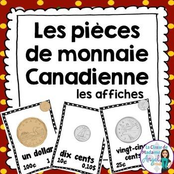 Les affiches de pièces de monnaie Canadienne - Canadian Money Posters in French