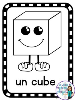 Les Affiches des Formes Geometriques - 2D and 3D Shape posters in French