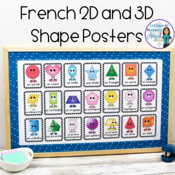 Les affiches des formes géométriques - 2D and 3D Shape posters in French