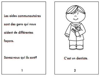 Les Aides Communautaires (Des livres et des cartes de vocabulaire)