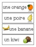 Les Aliments - mots étiquettes
