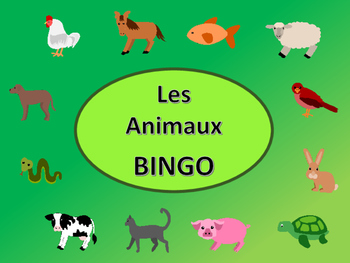 Les Animaux Bingo – The Animals in French