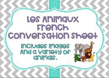 Les Animaux Conversation Card