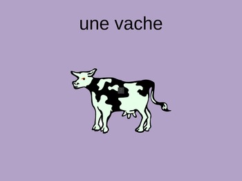 Les Animaux French Animal Vocabulary Power Point ppt