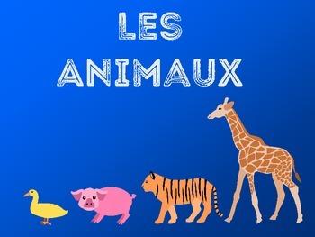 Les Animaux-French Animals Vocabulary Presentation