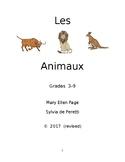 Les Animaux  Gr. 3-9