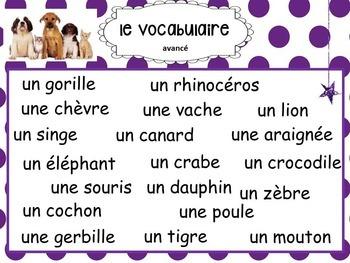 French, Animals: Presentation