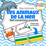 Les Animaux de la Mer / Sea Animals in French - Self-Corre