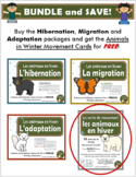 Les Animaux en Hiver - BUNDLE (French: Hibernation, Migration and Adaptation)