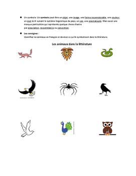 Les Animaux et Le Symbolisme