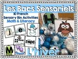 Les Bacs Sensoriel-l'hiver (French sensory bins-winter)