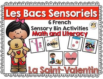 Les Bacs Sensoriel-La Saint Valentin (French Sensory Bins-Valentine's Day)