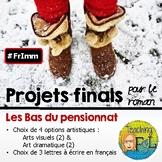 Les Bas du Pensionnat (roman) - Options de projets finals