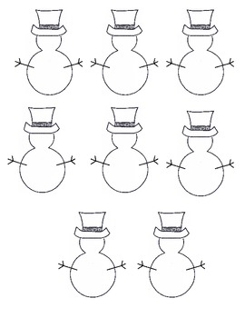 Les Bonhommes de Neige Christmas activity