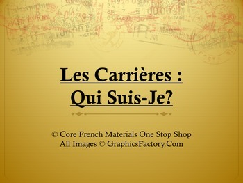 Les Carrieres Qui Suis-Je Cooperative Learning Game & Activity