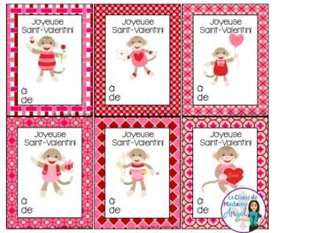 Jour de Saint Valentin - Valentine's Day Cards in French