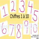 Les Chiffres 1 à 10 - Lecteurs débutant   Numbers 1-10 French Emergent Reader