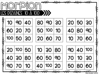 Les Chiffres: French Numbers 0 - 100 Tic-Tac-Toe