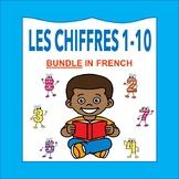 Les Chiffres et les Nombres 1-10: French Numbers 1-10 BUNDLE