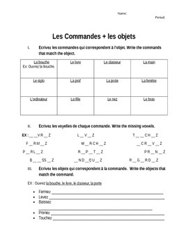 Les Commandes + Les objets