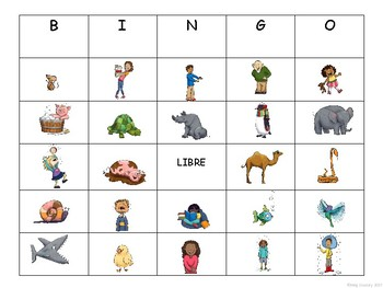 Les Contraires-Opposites Bingo in French with  Vocabulary Slideshow