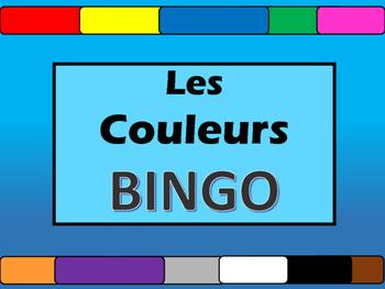 Les Couleurs BINGO- French Colors Vocabulary