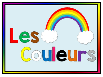 Les Couleurs - Colour Posters for beginning French students