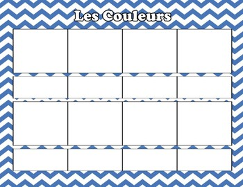 Les Couleurs Cut and Paste Worksheet
