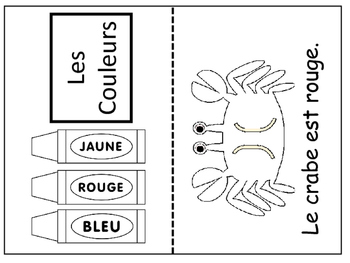 Les Couleurs- Emergent Reader/Coloring Book