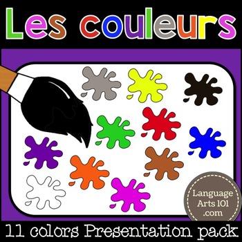 The Colors in French | Les Couleurs - Français | Powerpoint