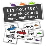 Les Couleurs: French Colors (Colours) Flash Cards and Word