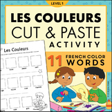 Les Couleurs French Colors Magazine Cut and Paste Worksheet