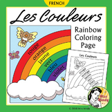 Les Couleurs French Colors Rainbow Coloring Page