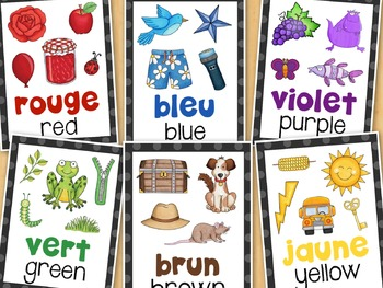 Les Couleurs French Colours Posters