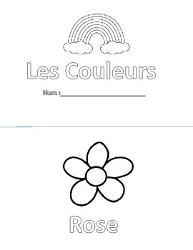 Les Couleurs - French Colours in Easy cut book