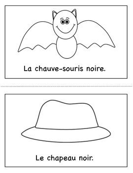 Les Couleurs:  French Emergent Reader for the color Black
