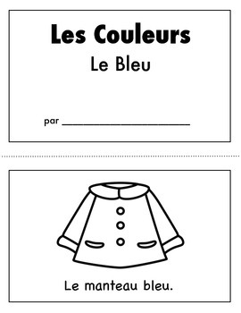 Les Couleurs:  French Emergent Reader for the color Blue
