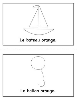 Les Couleurs:  French Emergent Reader for the color Orange.