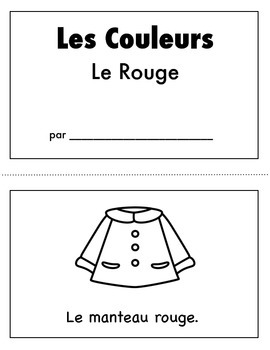 Les Couleurs:  French Emergent Reader for the color Red
