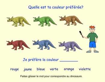 Les Couleurs: Interactive SMARTboard Activities