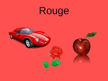 Les Couleurs PowerPoint French color vocabulary PPT