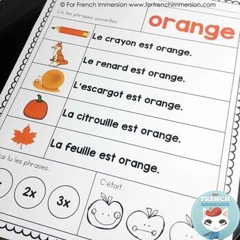 Fluidité en lecture | French Reading Fluency | French Colours | Les couleurs