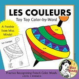 Les Couleurs Recognizing French Color Names Coloring Worksheet {FREEBIE}