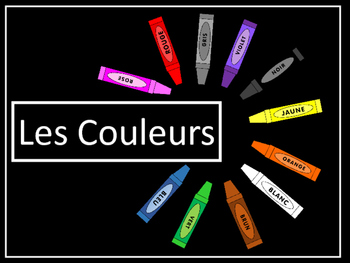 Les Couleurs Vocab Presentation, Emergent Reader and Coloring Activities Packet