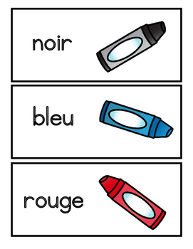 Les Couleurs Word Wall Cards
