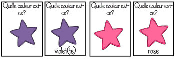 Les Couleurs colour color flashcards in FRENCH lote
