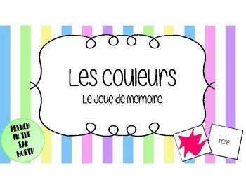 French - Les Couleurs en Français - Le Joue de Memoire (Memory Game)