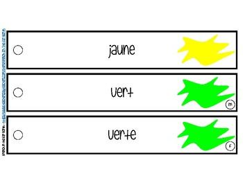 French - Les Couleurs en Français - Le Porte-Cles de Vocabulaire (KeyRing)