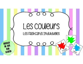 French - Les Couleurs en Français - Les Flashcards Individuelles (Flashcards)