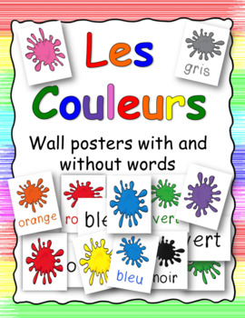 Les Couleurs : French posters with and without words